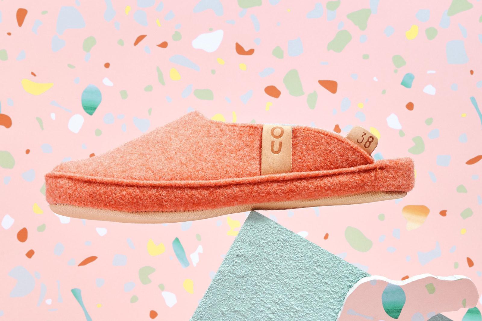 Handmade orange slippers