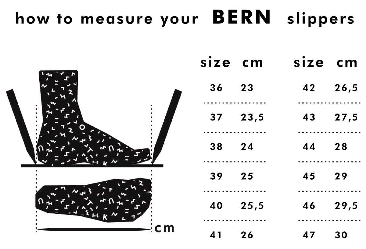 how-to-measure-bern-slippers