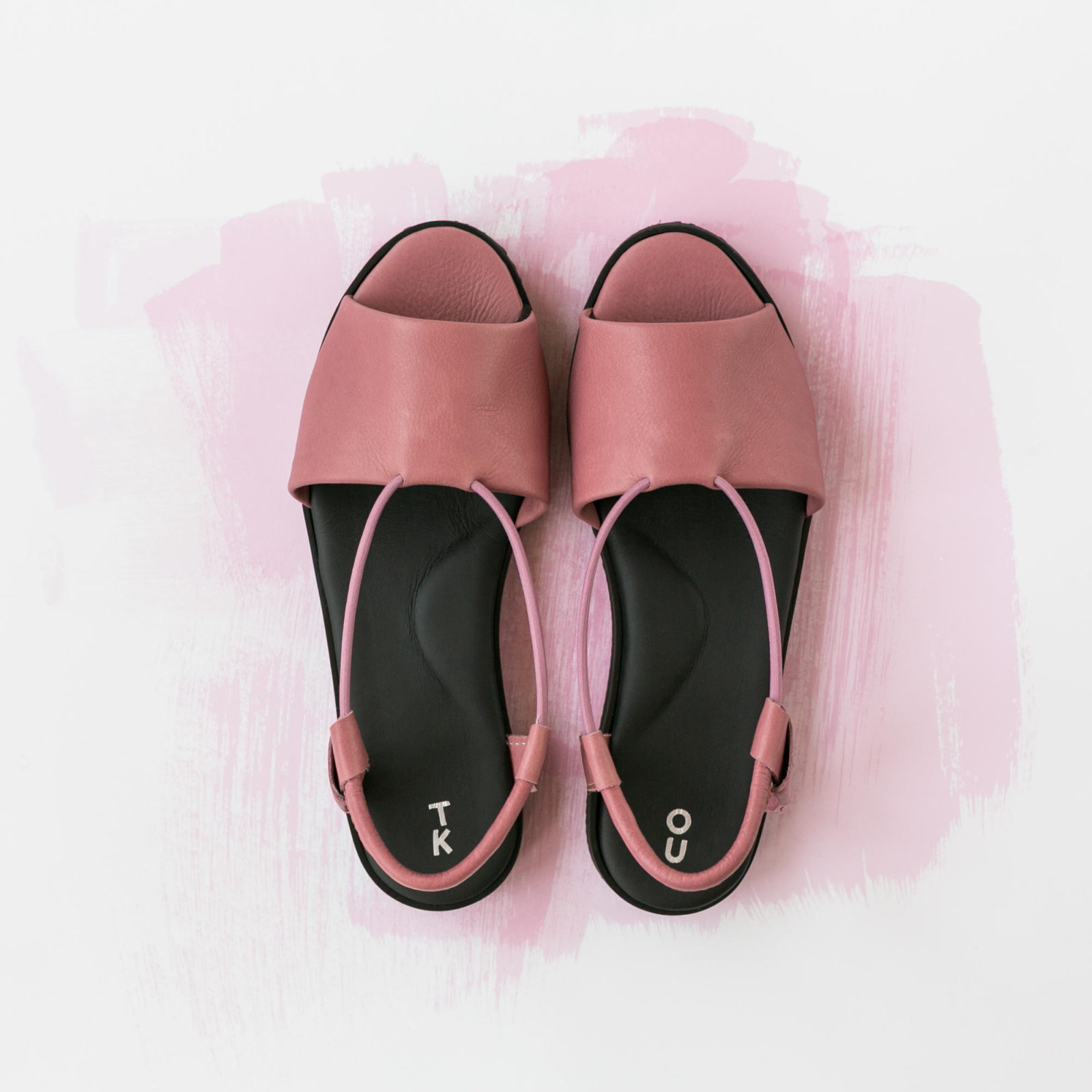 pink comfortable leather shoes